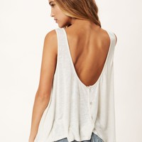 BUTTON BARE BELLY TANK