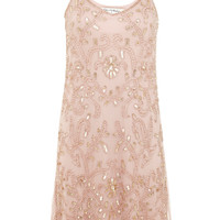 Nude Embellished Cami Dress - View All - New In