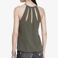HIGH NECK CUT-OUT BACK CAMI from EXPRESS