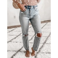 ALLY HIGH RISE DISTRESSED SUPER SKINNY