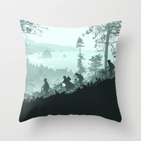Goonies Never Say Die Throw Pillow by Ape Meets Girl