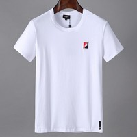 Fendi Men Fashion Casual Letter Print Shirt Top Tee