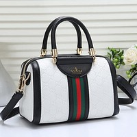 Best Gifts GUCCI Women Fashion Leather Tote Crossbody Shoulder Bag