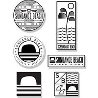 Sundance Beach Sticker Pack Surf & Skateboard