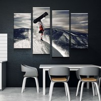 Snowboarders Canvas Set