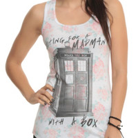 Doctor Who Madman Floral Girls Tank Top