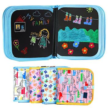 Childrens painting this magical movable tiny blackboard inventive graffiti painting water chalk erasable painting kindergarten gifts