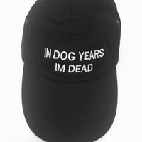 In dog years im dead black baseball cap 100% cotton pinterest instagram tumblr