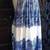 FELICITY & COCO SLEEVELESS OPEN SIDE STRIPED BLUE WHITE FUSIA DRESS XL
