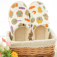 Comfortable Cartoon Animal Pattern Round Toe Anti-Slip Slippers