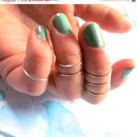 Knuckle Rings - Set of 5 - Available in 10 colors - Stackable, Adjustable Cute Summer Trendy Midi Rings - Mid Finger Bands