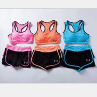 Under Armours Fashion sports fitness Yoga exercise vest shorts suit H-A-XYCL