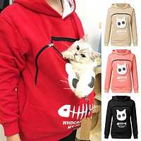 pet lovers  Hoodie  With Pet Pouch