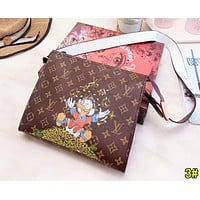 Louis Vuitton LV Newest Popular Women Leather Cute Cartoon Print Satchel Shoulder Bag Crossbody 3#