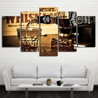 Jack Daniels Whiskey Drink poster panel wall art on canvas picture