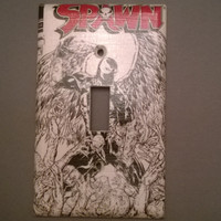 Spawn comic book light switch cover