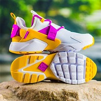 Nike Air Huarache City Low 18 ¡°White&Yellow&Purple¡± Running Shoes AH6804-102