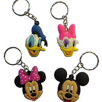 Mickey Mouse and Friends Keychains 4 Pcs Set #1