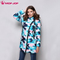 MofJof 2017 Winter Women Parka Hooded Long Camouflage Cotton Thick Women Jacket Outwear Warm Padded New Fashion Women Coat 210#