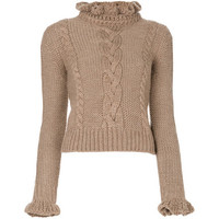 see by chloe ruffle cable knit - Google Search
