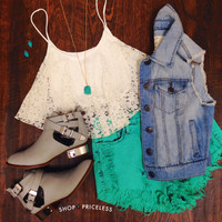Tori Lace Crop Top