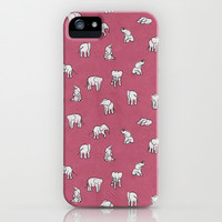 Indian Baby Elephants in Pink iPhone & iPod Case by Estelle F
