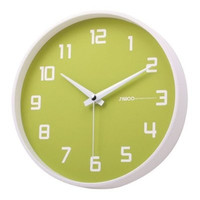Silent Non-Ticking Wall Clock in Key Lime and White