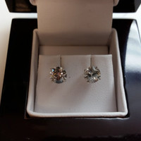 2.10 Carat H I1 Diamond Earrings 14k White Gold Setting Jewelry Fine Make Anniversary Fashion Great Quality Amazing Size Amazing Price!!