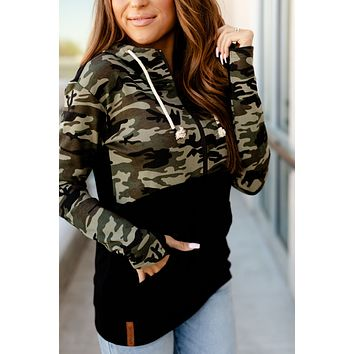 Ampersand Avenue Camo Half Zip