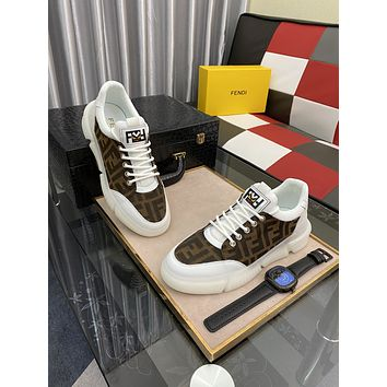 FENDI 2021 Men Fashion Boots fashionable Casual leather Breathable Sneakers Running Shoes06150dp