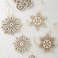 Snowflake Christmas Ornament Set