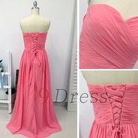 New Sweetheart Long Prom Dress Lace-Up Back Bridesmaid Dress Hot Party Dress Evening Dress Homecoming Dress Holiday Dress Formal Dress
