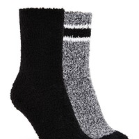 Striped Fuzzy Sock Set - 2 Pack