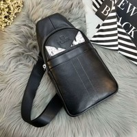 Ready Stock Fendi Men's Fashion Casual Leather Chest Pack Bag Cross Body Bag #315