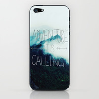 Adventure Mountain iPhone & iPod Skin by Leah Flores | Society6