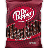 Dr. Pepper Soda Pop Flavored Licorice Twists Candy 5 oz