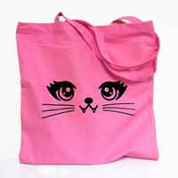 CAT Tote Bag - Kitty Vampire Pink Totebag