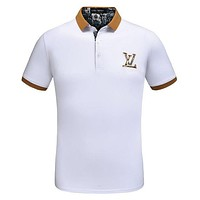 LV Louis Vuitton Men's Trendy Top T-Shirt Top Tee F