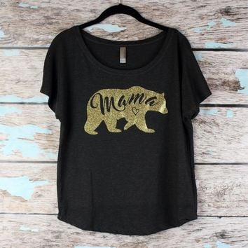 Mama Bear Shirt, Momma Bear T-Shirt, Gift For Mom, Mom Life Shirt, New Mom gift