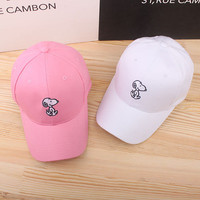 Snoopy Sport Casual Simple Hip-hop Weekend Curved Peak Trucker Baseball Cap Hat _ 5016