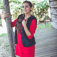 Simply Solid Gameday Dress in Red