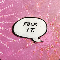 Punk Rock Word Balloon Pin