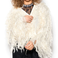 Bohemian Fab Fur Crop Coat Jacket