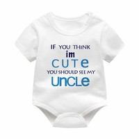 My Uncle For Baby Clothes Summer Winter Infant Baby Jumpsuit Girls Boy Clothing Newborn Infant Outfit For 0-12M Baby Shower Gift