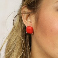 Covered in Coral Earrings