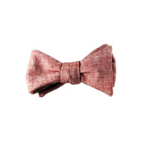 Mill Cities Fineries Cherry Chambray Bow Tie