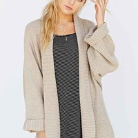 Silence + Noise Wide-Ribbed Open Cardigan Sweater-