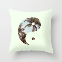 Yin Yang Palm Trees Throw Pillow by productoslocos | Society6