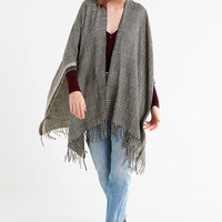 Houndstooth Brushed Poncho | Urban Outfitters
