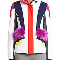 Fendi - Buggie Fur-Trim Ski Jacket - Saks Fifth Avenue Mobile